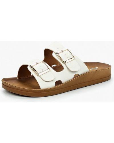 Белое сабо кожаные Style Shoes