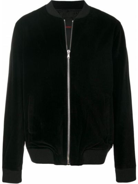 Хлопковая черная куртка с вышивкой Intoxicated