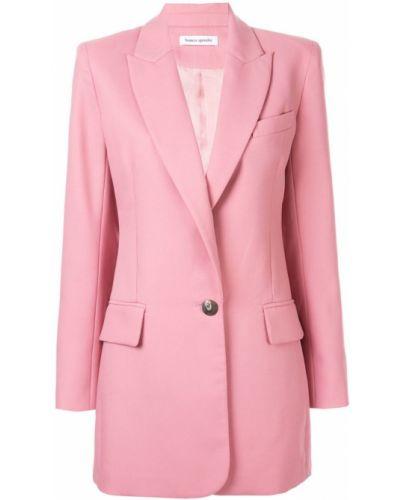 Однобортный розовый удлиненный пиджак на пуговицах Bianca Spender