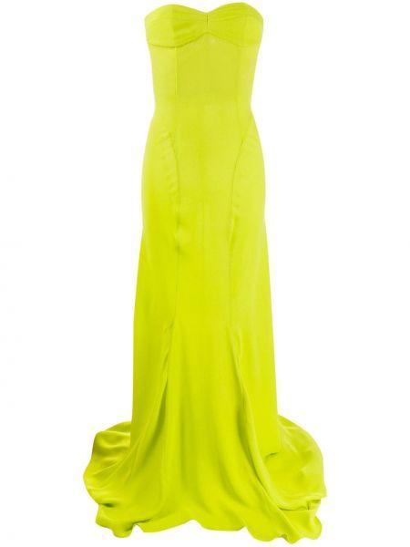 Zielona sukienka długa z wiskozy Attico