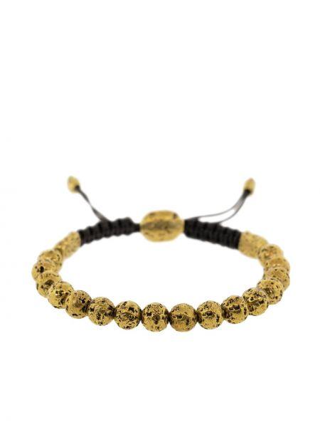 Czarna złota bransoletka ze złota John Varvatos