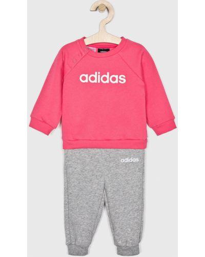 Спортивный костюм прямой розовый Adidas