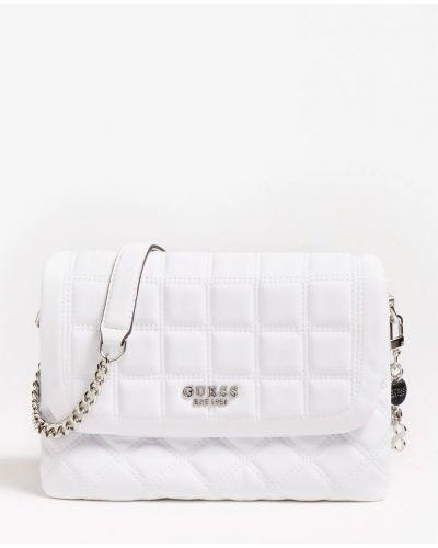 Городская белая маленькая сумка на молнии Guess