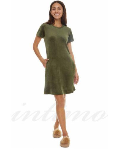 Велюровое платье - зеленое Anabel Arto