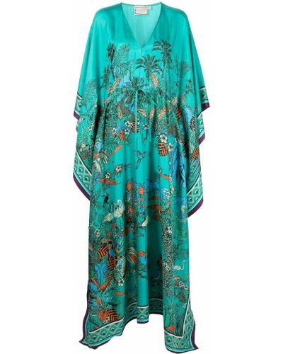 Шелковое платье - синее Mary Katrantzou