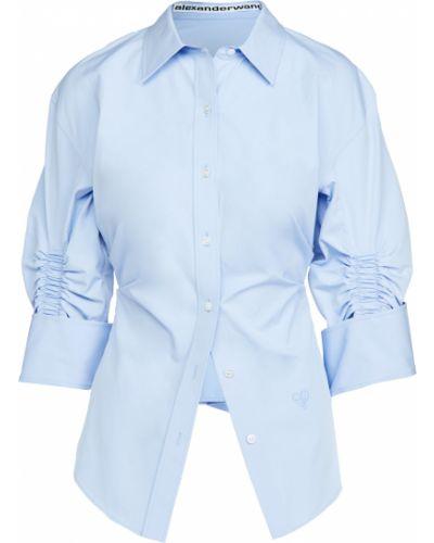 Niebieska koszula bawełniana asymetryczna Alexander Wang