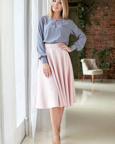 Блузка с длинным рукавом розовая с манжетами Lacywear