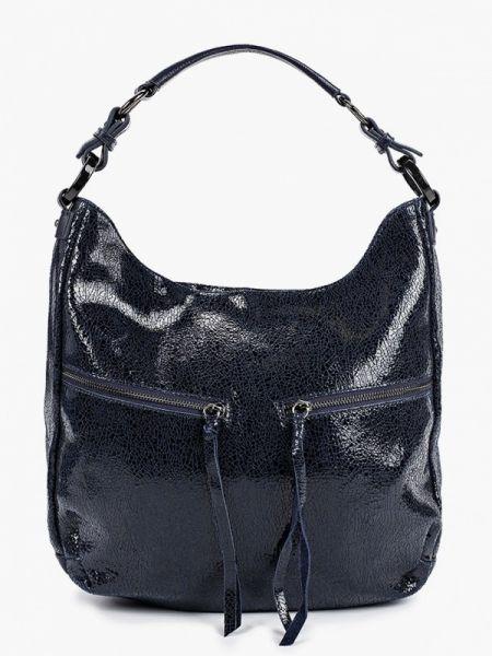 Синяя кожаная сумка из натуральной кожи Valensiy