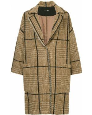 Шерстяное длинное пальто с капюшоном Frei Ea