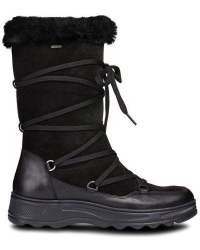 Кожаные сапоги черный Geox