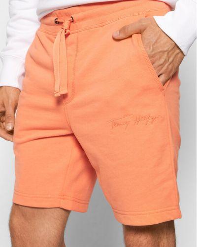Pomarańczowe spodenki sportowe Tommy Hilfiger