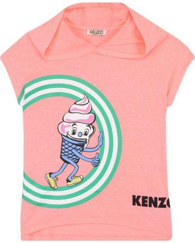 Футболка с логотипом прямая с капюшоном Kenzo