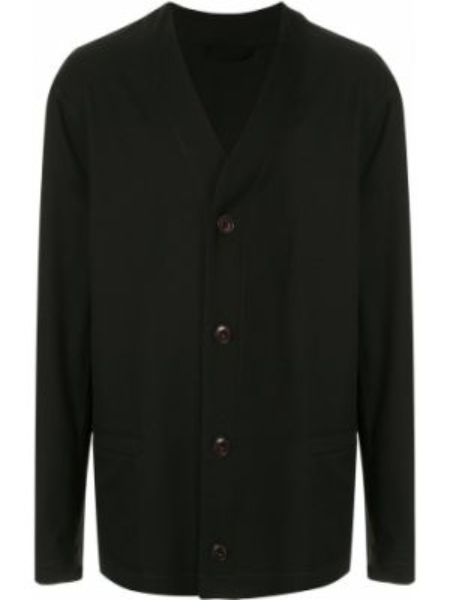 Długa kurtka czarna z guzikami Lemaire