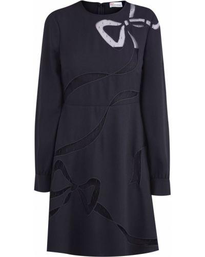 Платье мини на тонких бретелях с воротником Redvalentino