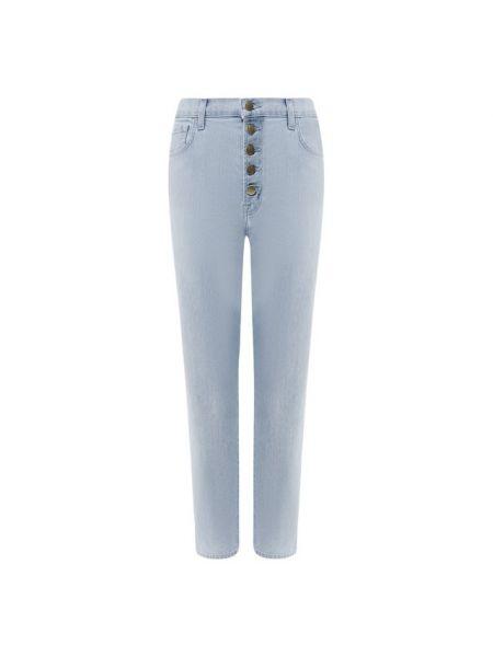 Укороченные джинсы скинни синие J Brand
