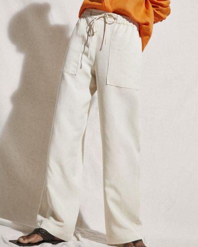 Белые турецкие брюки Massimo Dutti