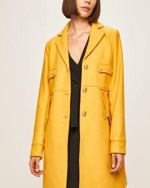 Прямая куртка с капюшоном мятная на пуговицах Morgan