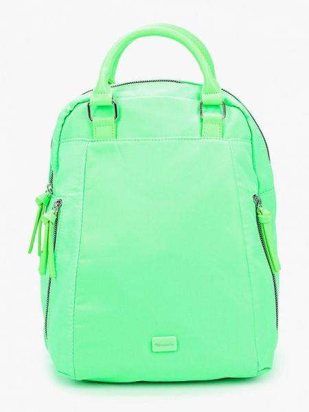 Зеленый городской текстильный рюкзак Tamaris