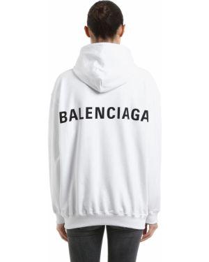 Bluza z kapturem z kapturem przeoczenie Balenciaga