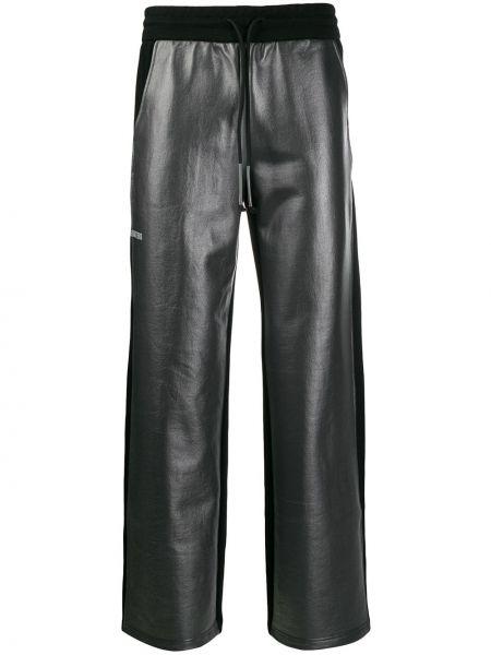 Черные брюки со стразами Wwwm