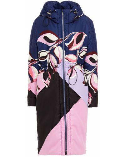 Текстильное пальто с капюшоном с оборками Emilio Pucci