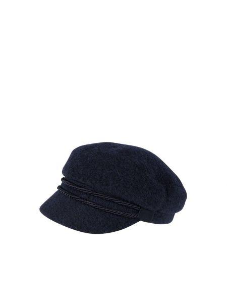 Niebieski kapelusz wełniany Loevenich
