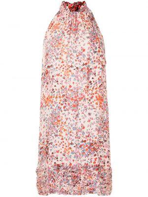 Платье мини в цветочный принт Poupette St Barth