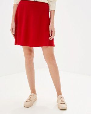 Юбка широкая красный United Colors Of Benetton