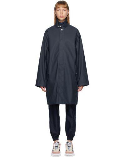 Черное длинное пальто с воротником с карманами Won Hundred
