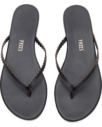Czarne sandały skorzane Tkees