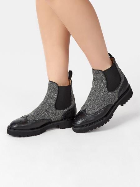 Кожаные ботинки - серые Doucal's