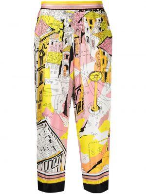 Прямые с завышенной талией укороченные брюки с поясом Emilio Pucci