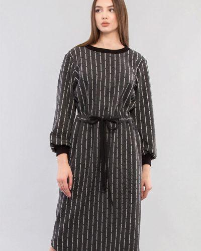Серое платье-свитер Maxa