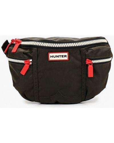 Зеленая текстильная поясная сумка Hunter