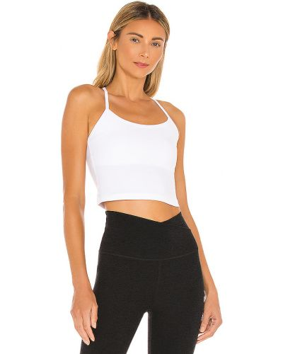 Biały światło crop top na jogę Beyond Yoga
