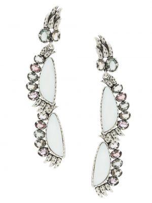 Серебряные серьги металлические с бабочкой Camila Klein
