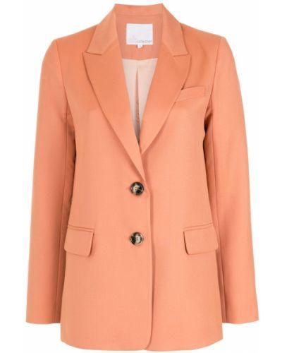 Шерстяной однобортный классический пиджак на пуговицах НК