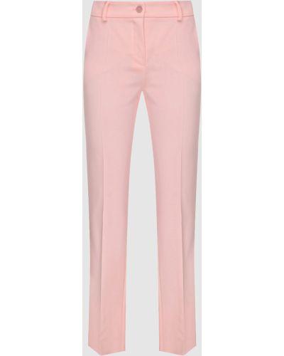 Розовые брюки узкого кроя Blumarine