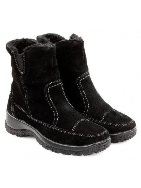 Ботинки с мехом - черные Gunter