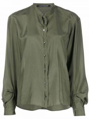 Зеленая рубашка с манжетами Luisa Cerano