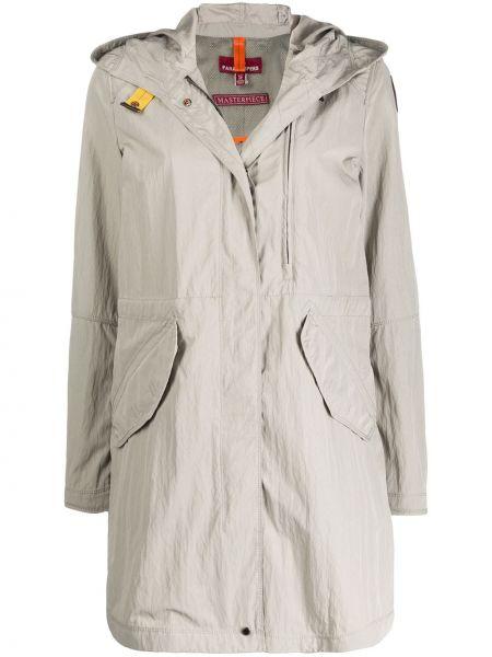 Długi płaszcz z kapturem z kieszeniami Parajumpers