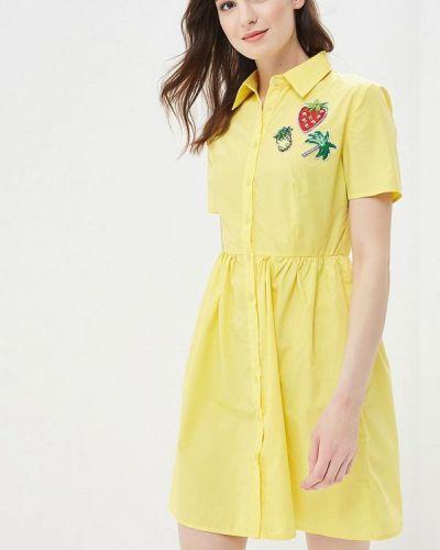 Желтое платье весеннее Incity