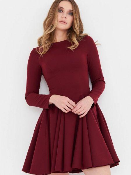 Бордовое вечернее платье Donatello Viorano