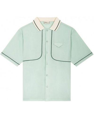 Zielona koszula wełniana Drole De Monsieur