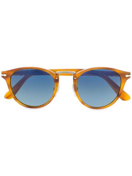 Солнцезащитные очки хаки круглые Persol