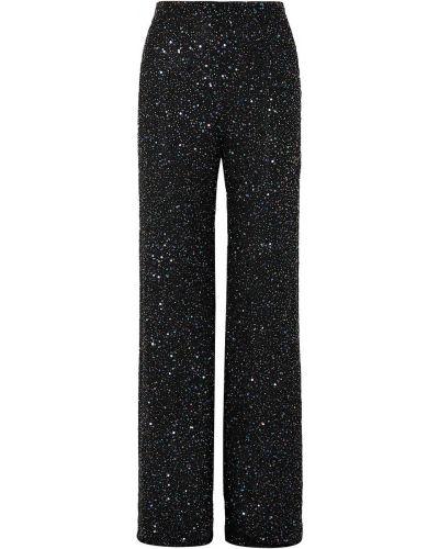 Черные брюки свободного кроя из вискозы Jenny Packham