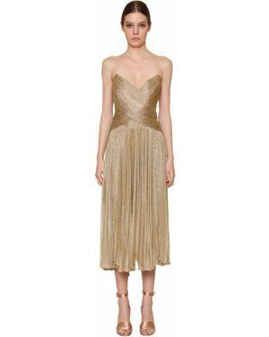 Платье миди - золотое Maria Lucia Hohan