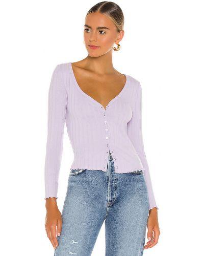 Bawełna włókienniczy fioletowy top Superdown
