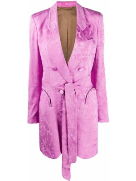 Классическая прямая розовая нейлоновая куртка Blazé Milano