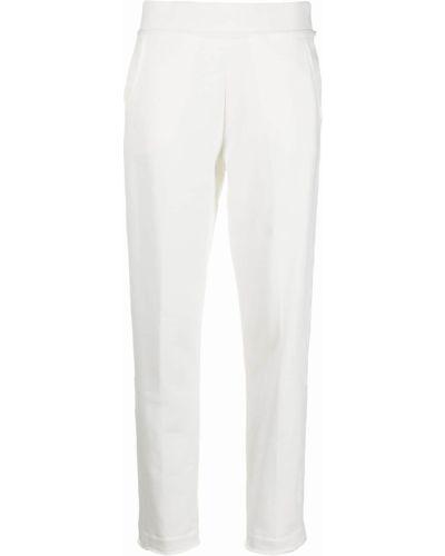 Хлопковые прямые белые спортивные брюки Woolrich